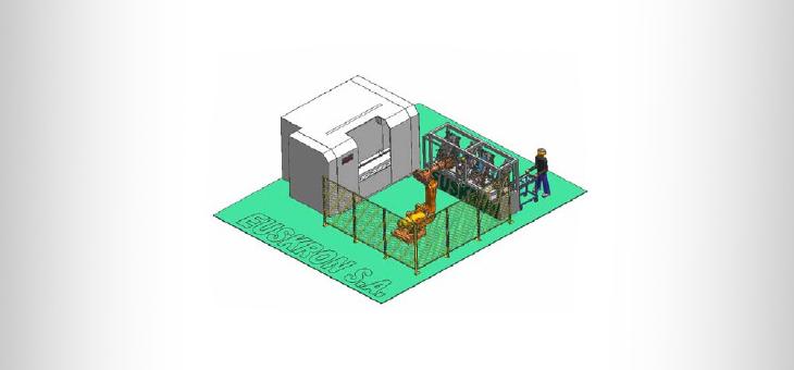 Роботизированная производственная ячейка EUSKRON